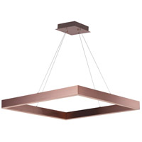 Metallika LED LED 32 inch Satin Copper Single Pendant Ceiling Light