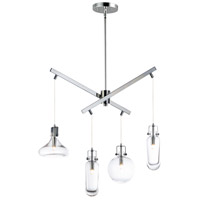 ET2 E24304-18PC Kem 4 Light 8 inch Polished Chrome Multi-Light Pendant Ceiling Light