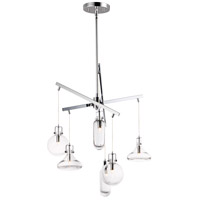 ET2 E24306-18PC Kem 6 Light 25 inch Polished Chrome Multi-Light Pendant Ceiling Light