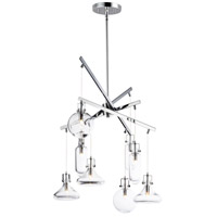 ET2 E24308-18PC Kem 8 Light 22 inch Polished Chrome Multi-Light Pendant Ceiling Light