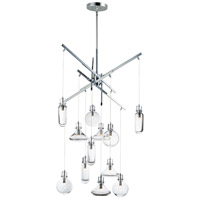 ET2 E24312-18PC Kem 12 Light 29 inch Polished Chrome Multi-Light Pendant Ceiling Light