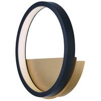 Hoopla LED 30 inch Black and Gold ADA Wall Sconce Wall Light