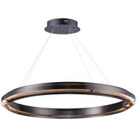 ET2 E24344-BGM Echo LED 40 inch Brushed Gunmetal Suspension Pendant Ceiling Light