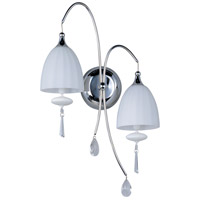Chute 2 Light 13 inch Polished Chrome Wall Sconce Wall Light in Matte White