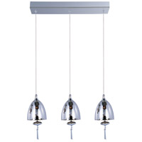 Chute 3 Light 18 inch Polished Chrome Linear Pendant Ceiling Light in Mirror Chrome