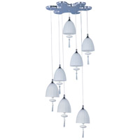 Chute 7 Light 15 inch Polished Chrome Pendant Ceiling Light in Matte White