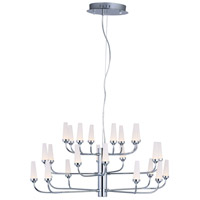 ET2 E24363-09PC Candela LED LED 33 inch Polished Chrome Multi-Tier Chandelier Ceiling Light