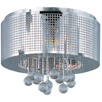 Illusion 5 Light 16 inch Polished Chrome Flush Mount Ceiling Light