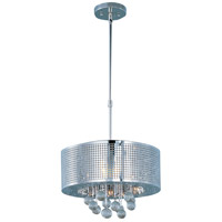 ET2 E24386-91PC Illusion 5 Light 16 inch Polished Chrome Pendant Ceiling Light
