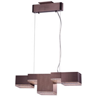 Pizzazz LED LED 8 inch Coffee Multi-Light Pendant Ceiling Light