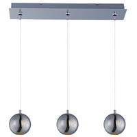 Polaris 3 Light 24 inch Polished Chrome Linear Pendant Ceiling Light