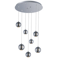 Polaris 7 Light 17 inch Polished Chrome Multi-Light Pendant Ceiling Light
