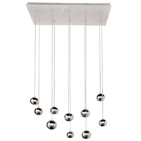 Polaris 10 Light 34 inch Polished Chrome Linear Pendant Ceiling Light
