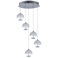 ET2 E24496-20PC Parasol LED 17 inch Polished Chrome Pendant Ceiling Light