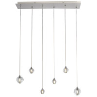 ET2 Harmony 6 Light LED Linear Pendant in Polished Chrome E24505-91PC