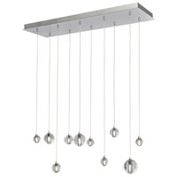 Harmony 10 Light 34 inch Polished Chrome Linear Pendant Ceiling Light