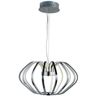 ET2 E24512-PC Argent LED 22 inch Polished Chrome Single Pendant Ceiling Light