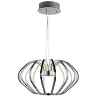 ET2 E24514-PC Argent LED 28 inch Polished Chrome Single Pendant Ceiling Light