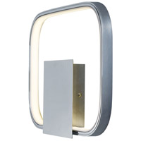 Polished Chrome Metal Squared Wall Sconces