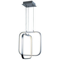 Squared LED 13 inch Polished Chrome Single Pendant Ceiling Light