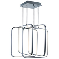 ET2 Squared 4 Light LED Single Pendant in Polished Chrome E24554-PC