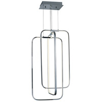 ET2 E24557-PC Squared LED 16 inch Polished Chrome Single Pendant Ceiling Light