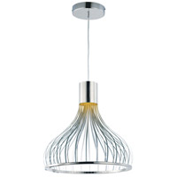 Turbo LED 19 inch Polished Chrome Single Pendant Ceiling Light