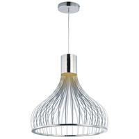 Turbo LED 24 inch Polished Chrome Single Pendant Ceiling Light