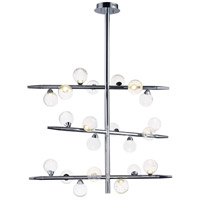 Bubbly LED 10 inch Polished Chrome Single Pendant Ceiling Light