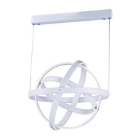 Gyro LED LED 26 inch Matte White Single Pendant Ceiling Light