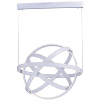 Gyro LED LED 32 inch Matte White Single Pendant Ceiling Light