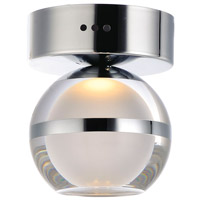 ET2 E24590-93PC Swank LED 5 inch Polished Chrome Flush Mount Ceiling Light
