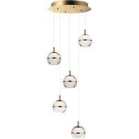ET2 E24595-93NAB Swank LED 15 inch Natural Aged Brass Multi-Light Pendant Ceiling Light