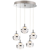 ET2 E24595-93PC Swank LED 15 inch Polished Chrome Multi-Light Pendant Ceiling Light
