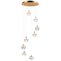 ET2 E24598-93NAB Swank LED 19 inch Natural Aged Brass Multi-Light Pendant Ceiling Light