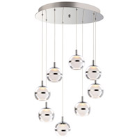 Swank LED 19 inch Polished Chrome Multi-Light Pendant Ceiling Light