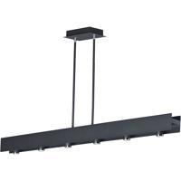 ET2 E24636-BKPC Beam LED LED 54 inch Black and Polished Chrome Linear Pendant Ceiling Light