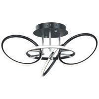 ET2 E24721-BKPC Ringer LED 25 inch Black and Polished Chrome Flush Mount Ceiling Light