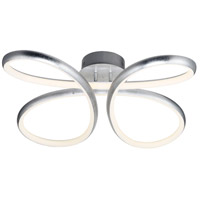 ET2 E24732-SL Clover LED 24 inch Silver Leaf Flush Mount Ceiling Light