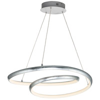 ET2 E24735-SL Clover LED 21 inch Silver Leaf Single Pendant Ceiling Light