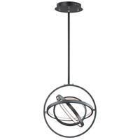 ET2 E24783-BK Gyro II LED 16 inch Black Single Pendant Ceiling Light