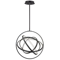 ET2 E24784-BK Gyro II LED 24 inch Black Single Pendant Ceiling Light