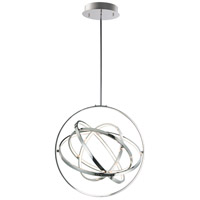 ET2 E24784-PC Gyro II LED 24 inch Polished Chrome Single Pendant Ceiling Light