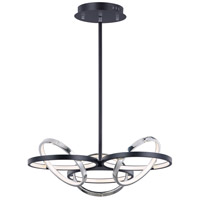 ET2 E24787-BKPC Gyro II LED 26 inch Black and Polished Chrome Single Pendant Ceiling Light