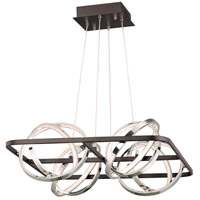 ET2 E24789-BKPC Gyro II LED 27 inch Black and Polished Chrome Single Pendant Ceiling Light