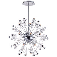 ET2 E24795-20PC Nova LED 34 inch Polished Chrome Multi-Light Pendant Ceiling Light