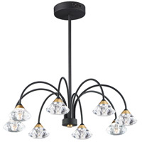 ET2 E24807-75BKMG Hope LED 29 inch Black and Metallic Gold Flush Mount Chandelier Ceiling Light