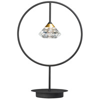 ET2 E24808-75BKMG Hope 20 inch 3.00 watt Black and Metallic Gold Table Lamp Portable Light