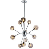ET2 E24825-138PC Asteroid LED 28 inch Polished Chrome Multi-Light Pendant Ceiling Light