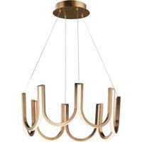 ET2 E24853-BCN You LED 26 inch Brushed Champagne Single Pendant Ceiling Light